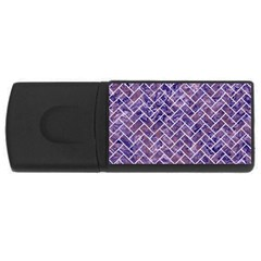 Brick2 White Marble & Purple Marble Rectangular Usb Flash Drive by trendistuff