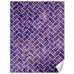 Brick2 White Marble & Purple Marble Canvas 36  X 48