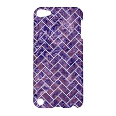 Brick2 White Marble & Purple Marble Apple Ipod Touch 5 Hardshell Case by trendistuff