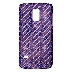 Brick2 White Marble & Purple Marble Galaxy S5 Mini by trendistuff