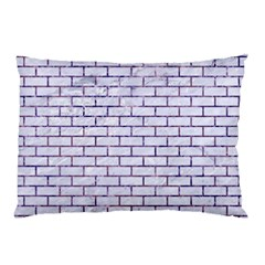 Brick1 White Marble & Purple Marble (r) Pillow Case (two Sides) by trendistuff
