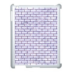 Brick1 White Marble & Purple Marble (r) Apple Ipad 3/4 Case (white) by trendistuff