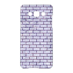 Brick1 White Marble & Purple Marble (r) Samsung Galaxy A5 Hardshell Case  by trendistuff