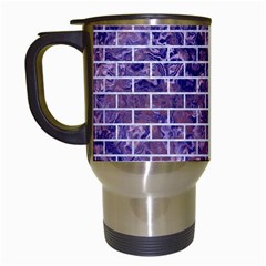 Brick1 White Marble & Purple Marble Travel Mugs (white) by trendistuff