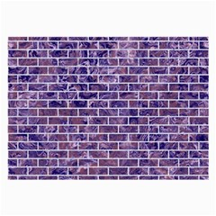 Brick1 White Marble & Purple Marble Large Glasses Cloth by trendistuff