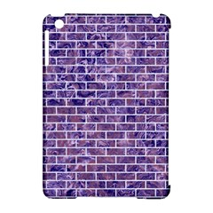 Brick1 White Marble & Purple Marble Apple Ipad Mini Hardshell Case (compatible With Smart Cover) by trendistuff