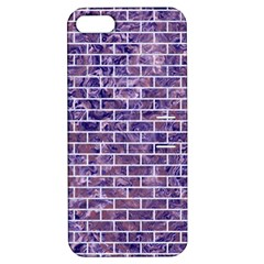 Brick1 White Marble & Purple Marble Apple Iphone 5 Hardshell Case With Stand by trendistuff