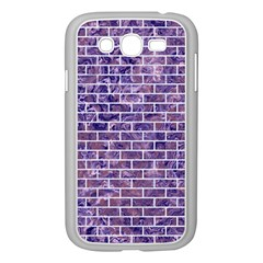 Brick1 White Marble & Purple Marble Samsung Galaxy Grand Duos I9082 Case (white) by trendistuff