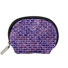 Brick1 White Marble & Purple Marble Accessory Pouches (small)  by trendistuff