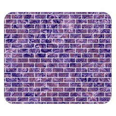 Brick1 White Marble & Purple Marble Double Sided Flano Blanket (small)  by trendistuff