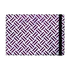 Woven2 White Marble & Purple Leather (r) Apple Ipad Mini Flip Case by trendistuff
