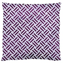 Woven2 White Marble & Purple Leather (r) Standard Flano Cushion Case (one Side) by trendistuff