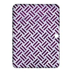 Woven2 White Marble & Purple Leather (r) Samsung Galaxy Tab 4 (10 1 ) Hardshell Case  by trendistuff