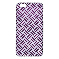 Woven2 White Marble & Purple Leather (r) Iphone 6 Plus/6s Plus Tpu Case by trendistuff