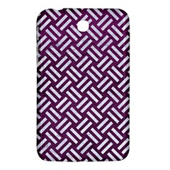 Woven2 White Marble & Purple Leather Samsung Galaxy Tab 3 (7 ) P3200 Hardshell Case  by trendistuff