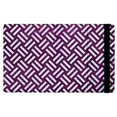 Woven2 White Marble & Purple Leather Apple Ipad Pro 9 7   Flip Case