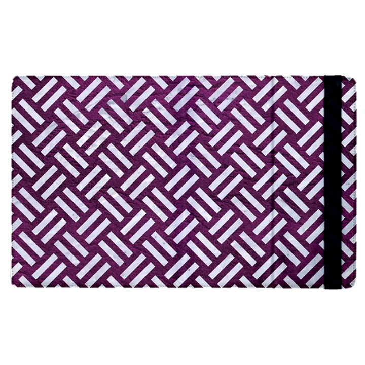 WOVEN2 WHITE MARBLE & PURPLE LEATHER Apple iPad Pro 9.7   Flip Case