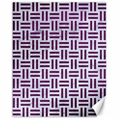 Woven1 White Marble & Purple Leather (r) Canvas 16  X 20   by trendistuff