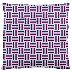 Woven1 White Marble & Purple Leather (r) Large Cushion Case (two Sides) by trendistuff