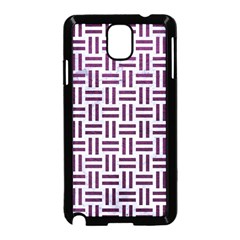 Woven1 White Marble & Purple Leather (r) Samsung Galaxy Note 3 Neo Hardshell Case (black) by trendistuff