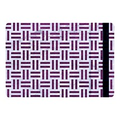 Woven1 White Marble & Purple Leather (r) Apple Ipad Pro 10 5   Flip Case by trendistuff