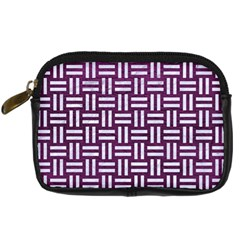 Woven1 White Marble & Purple Leather Digital Camera Cases by trendistuff