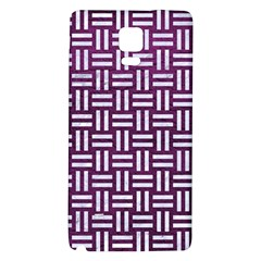 Woven1 White Marble & Purple Leather Galaxy Note 4 Back Case