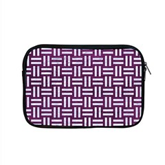 Woven1 White Marble & Purple Leather Apple Macbook Pro 15  Zipper Case by trendistuff