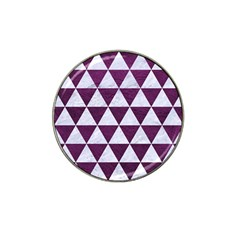 Triangle3 White Marble & Purple Leather Hat Clip Ball Marker by trendistuff