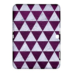 Triangle3 White Marble & Purple Leather Samsung Galaxy Tab 4 (10 1 ) Hardshell Case  by trendistuff