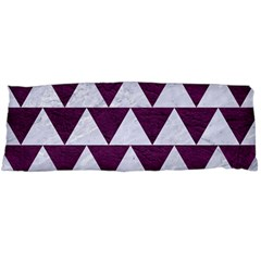 Triangle2 White Marble & Purple Leather Body Pillow Case Dakimakura (two Sides) by trendistuff