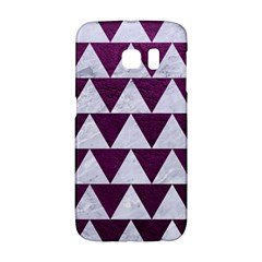 Triangle2 White Marble & Purple Leather Galaxy S6 Edge by trendistuff