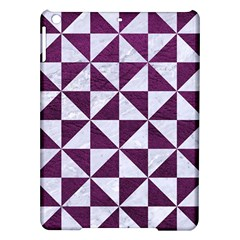 Triangle1 White Marble & Purple Leather Ipad Air Hardshell Cases by trendistuff