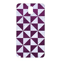 Triangle1 White Marble & Purple Leather Samsung Galaxy Note 3 N9005 Hardshell Back Case by trendistuff