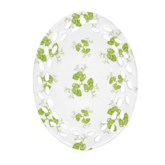 Photographic Floral Decorative Pattern Ornament (oval Filigree)