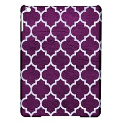 Tile1 White Marble & Purple Leather Ipad Air Hardshell Cases by trendistuff