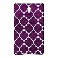 Tile1 White Marble & Purple Leather Samsung Galaxy Tab S (8 4 ) Hardshell Case  by trendistuff