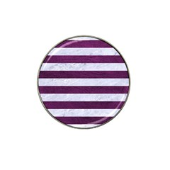 Stripes2white Marble & Purple Leather Hat Clip Ball Marker (10 Pack) by trendistuff