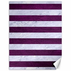 Stripes2white Marble & Purple Leather Canvas 12  X 16   by trendistuff