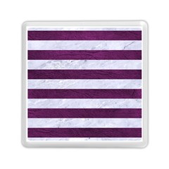 Stripes2white Marble & Purple Leather Memory Card Reader (square)  by trendistuff