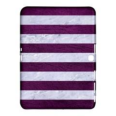 Stripes2white Marble & Purple Leather Samsung Galaxy Tab 4 (10 1 ) Hardshell Case  by trendistuff