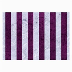 Stripes1 White Marble & Purple Leather Large Glasses Cloth by trendistuff