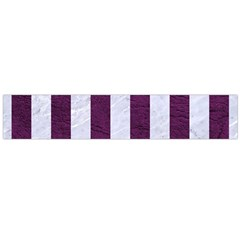 Stripes1 White Marble & Purple Leather Large Flano Scarf  by trendistuff