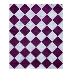 Square2 White Marble & Purple Leather Shower Curtain 60  X 72  (medium)  by trendistuff