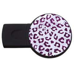 Skin5 White Marble & Purple Leather Usb Flash Drive Round (4 Gb) by trendistuff