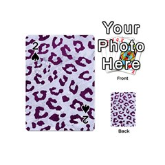 Skin5 White Marble & Purple Leather Playing Cards 54 (mini)  by trendistuff
