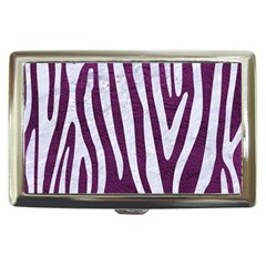 Skin4 White Marble & Purple Leather (r) Cigarette Money Cases by trendistuff