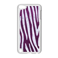 Skin4 White Marble & Purple Leather (r) Apple Ipod Touch 5 Case (white) by trendistuff