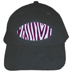 Skin4 White Marble & Purple Leather Black Cap