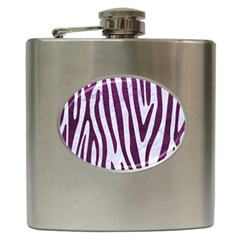Skin4 White Marble & Purple Leather Hip Flask (6 Oz) by trendistuff